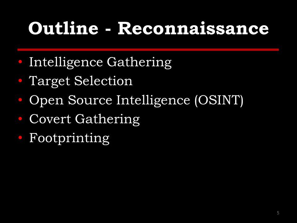 Outline - Reconnaissance