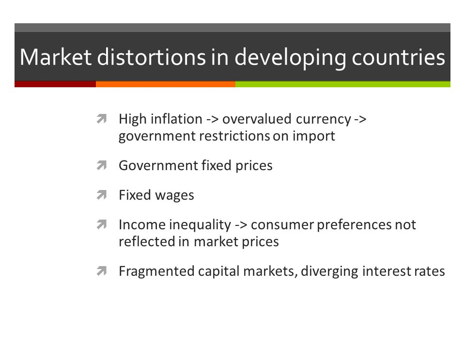 Market distortions in developing countries
