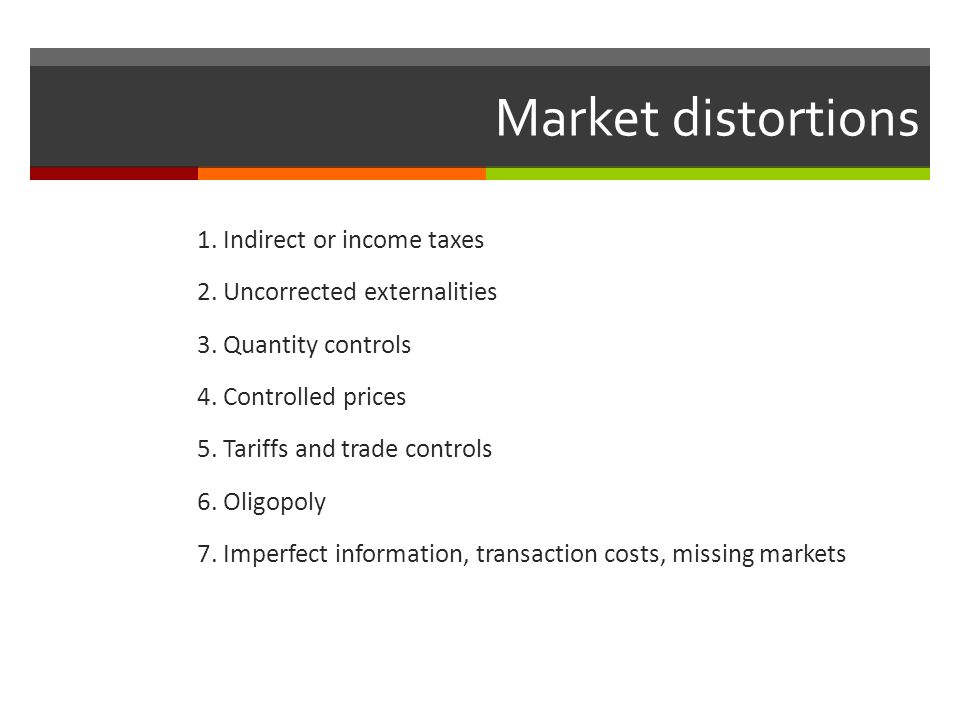Market distortions