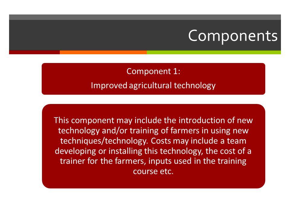 Improved agricultural technology