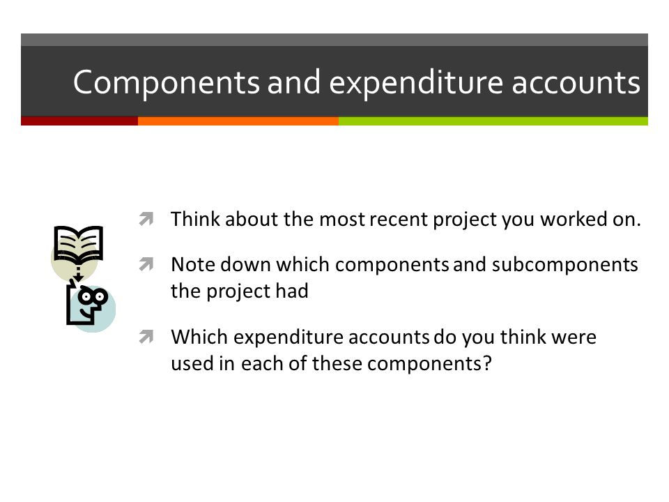 Components and expenditure accounts