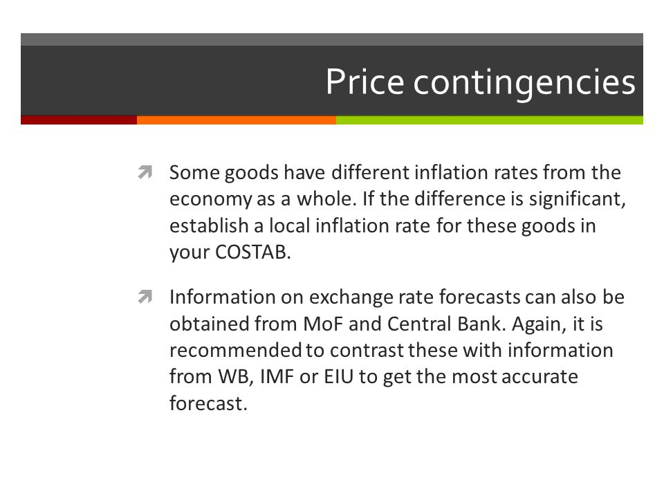 Price contingencies