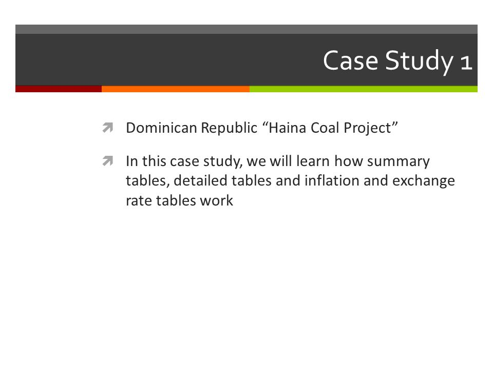 Case Study 1 Dominican Republic Haina Coal Project