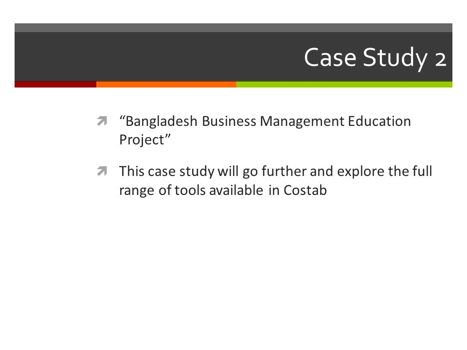 Case Study 2 Bangladesh Business Management Education Project