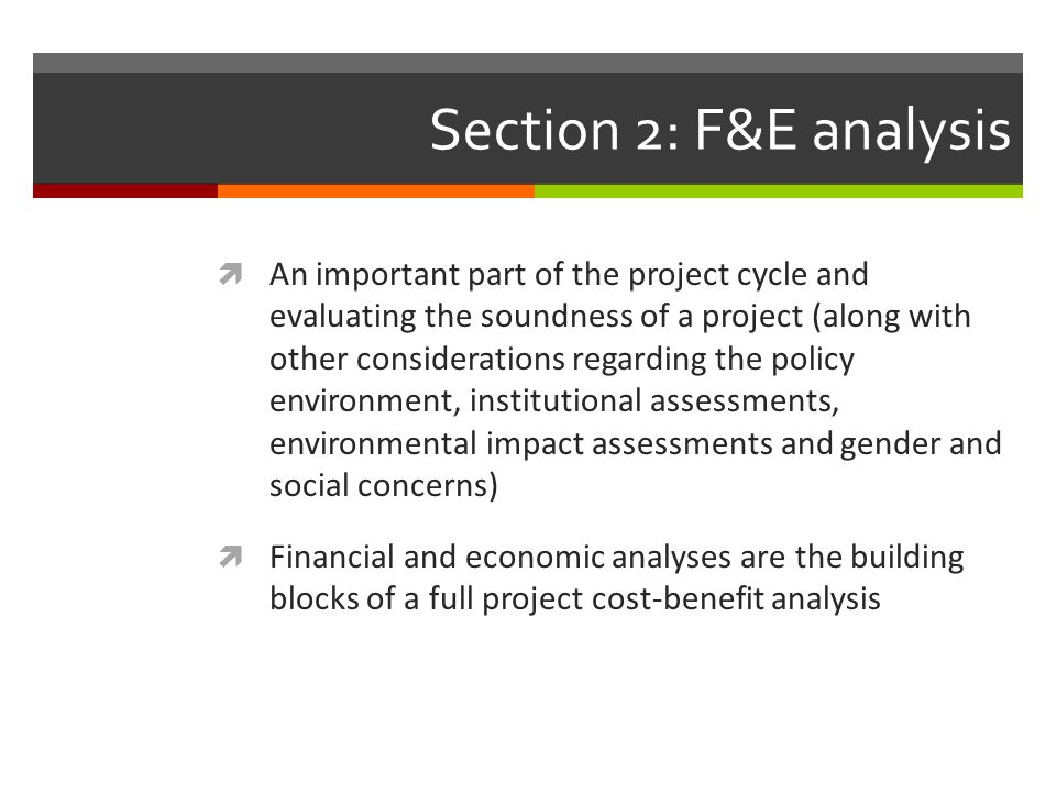 Section 2: F&E analysis