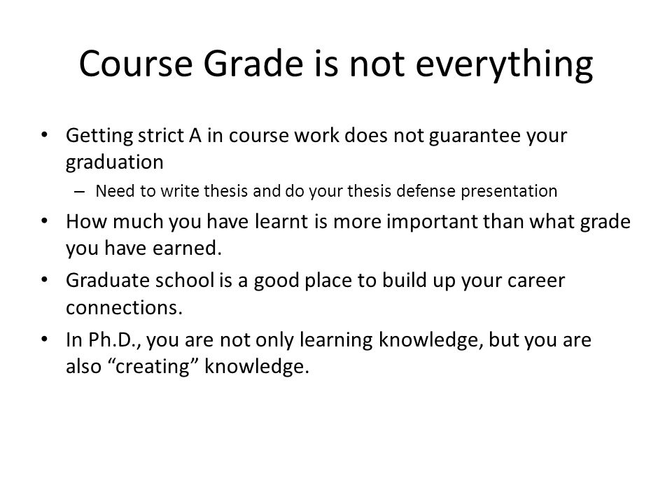 Course Grade is not everything