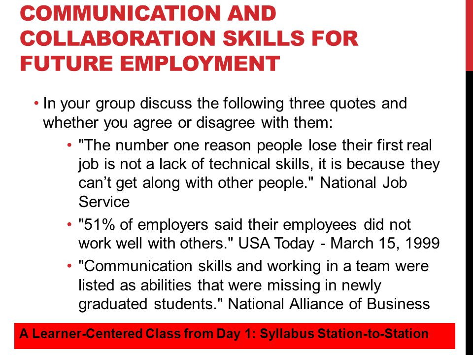 communication and collaboration skills for future employment