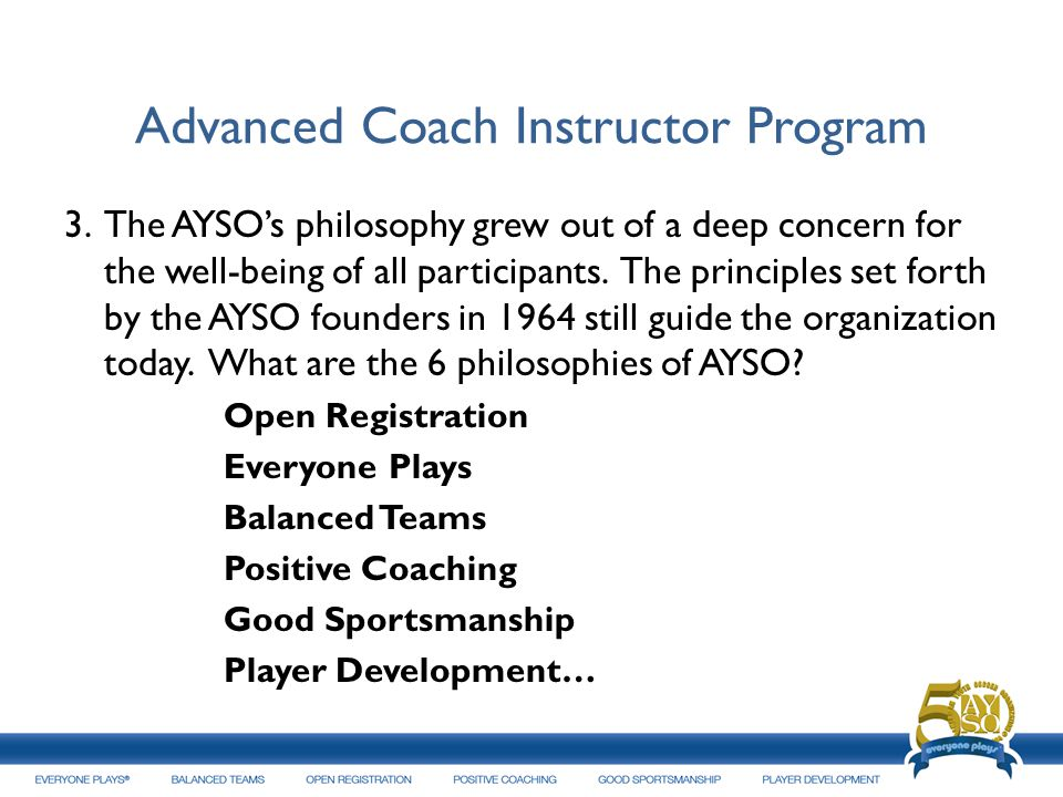 Advanced Coach Instructor Program