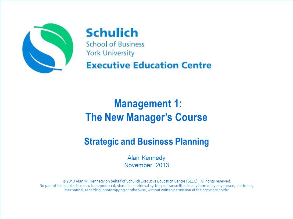 The New Manager's Course