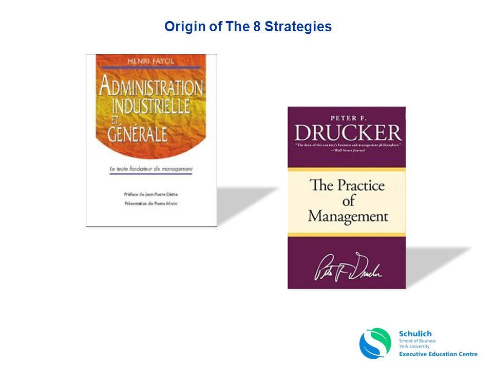 Origin of The 8 Strategies