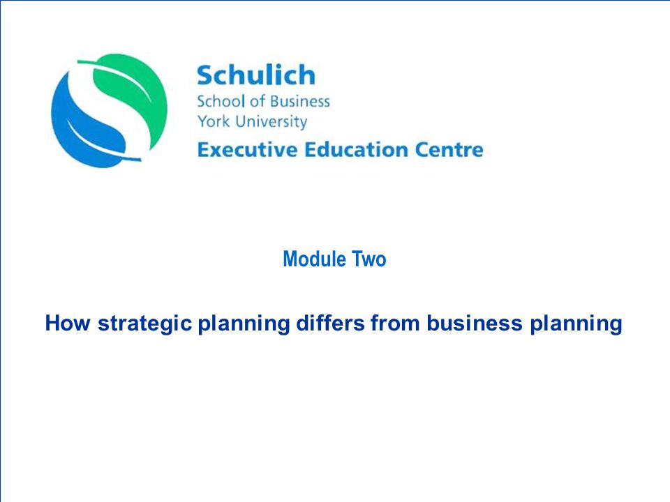 Manager 1: Strategic & Business Planning