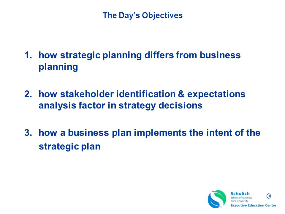 Strategic business planning training course