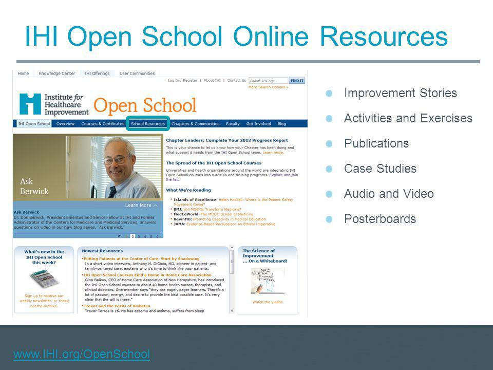 IHI Open School Online Resources