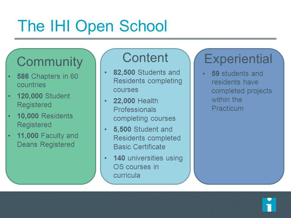 The IHI Open School Content Experiential Community