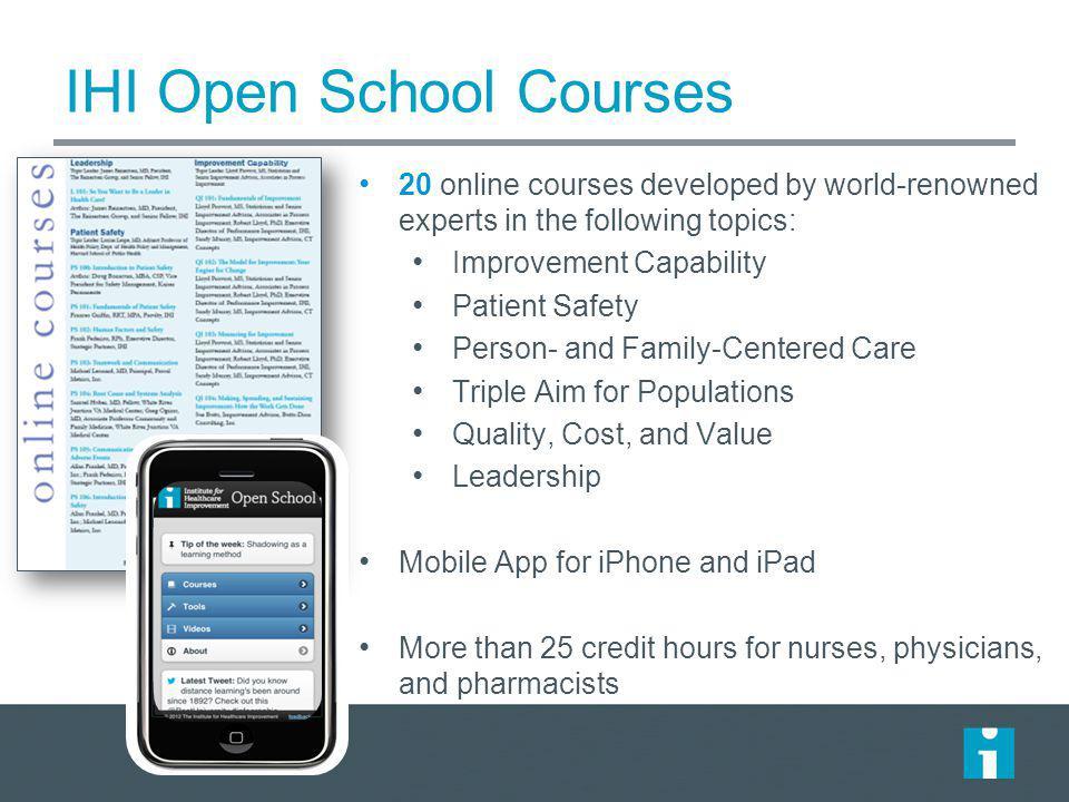 IHI Open School Courses