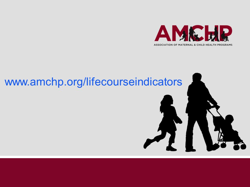 www.amchp.org/lifecourseindicators Thank you to additional AMCHP staff