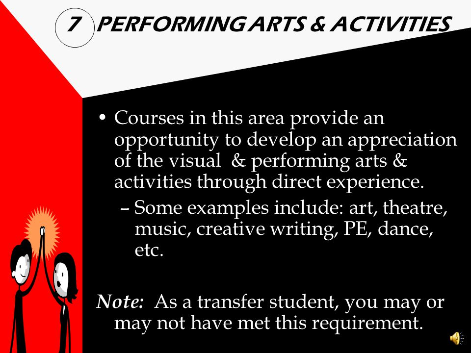 7 PERFORMING ARTS & ACTIVITIES