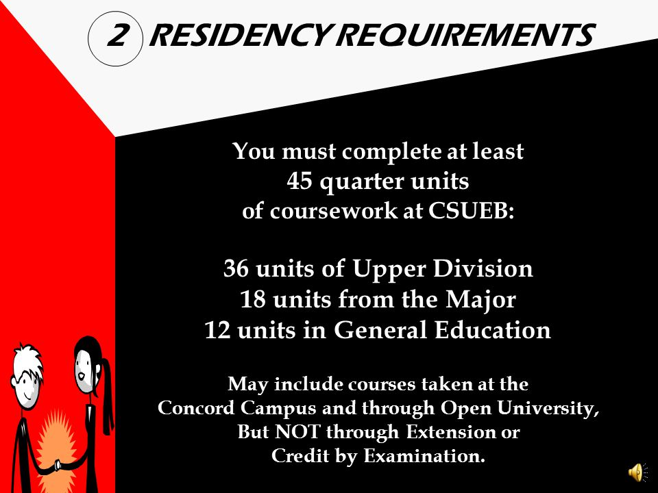 2 RESIDENCY REQUIREMENTS