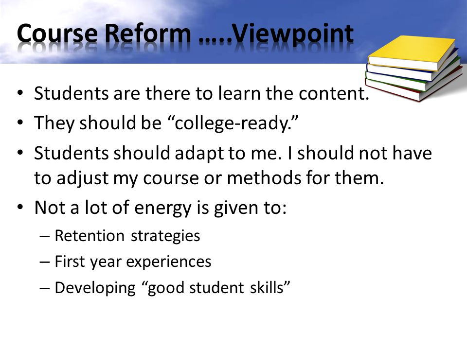 Course Reform …..Viewpoint