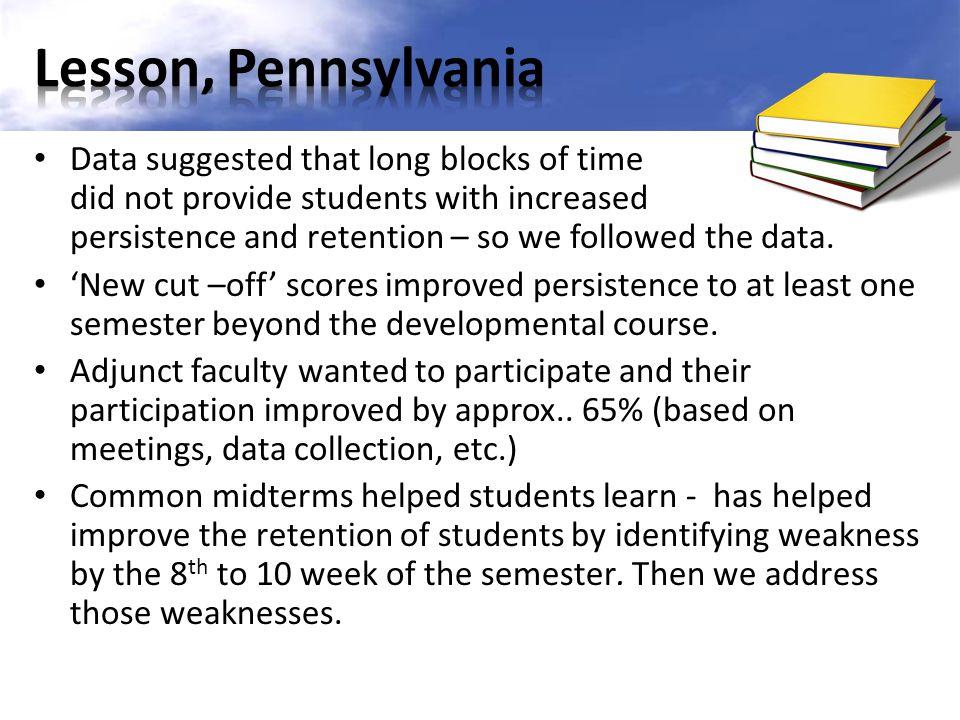 Lesson, Pennsylvania