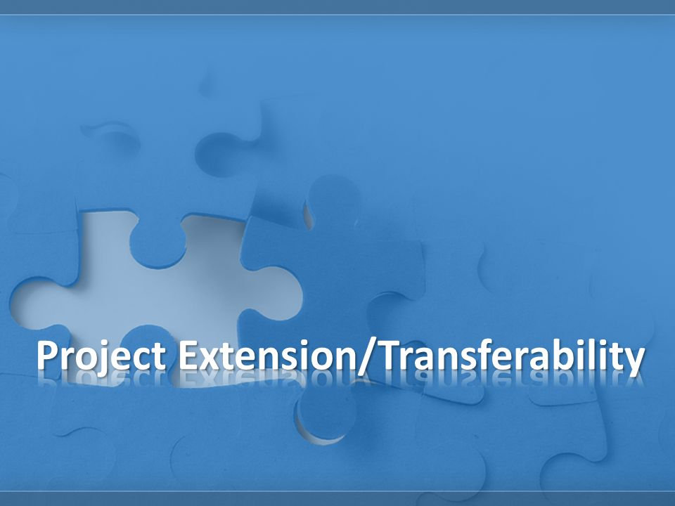 Project Extension/Transferability