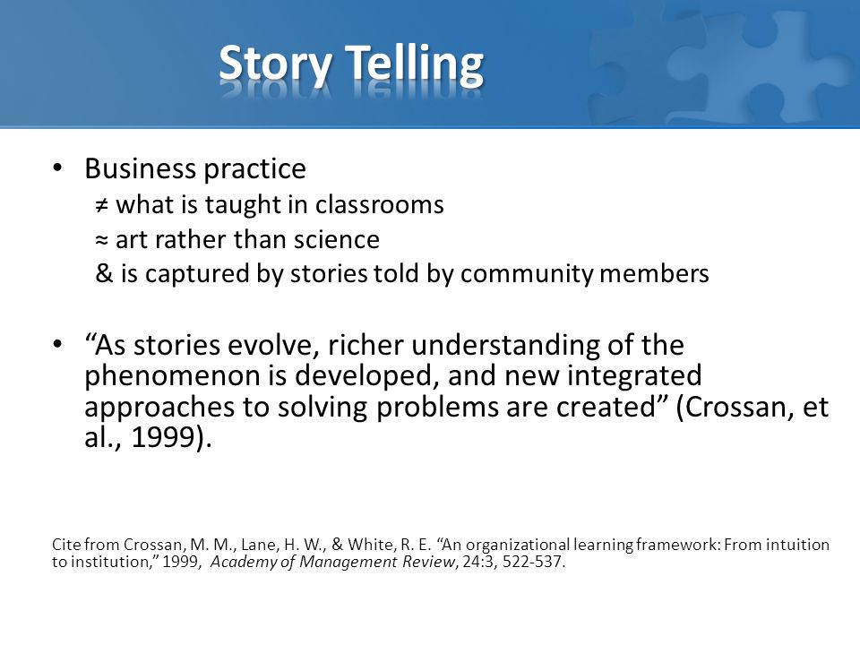 Story Telling Business practice