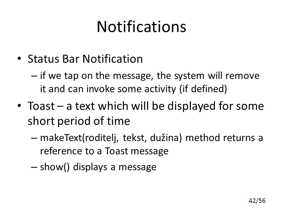 Notifications Status Bar Notification