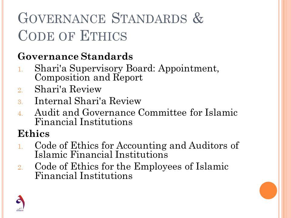 Governance Standards & Code of Ethics
