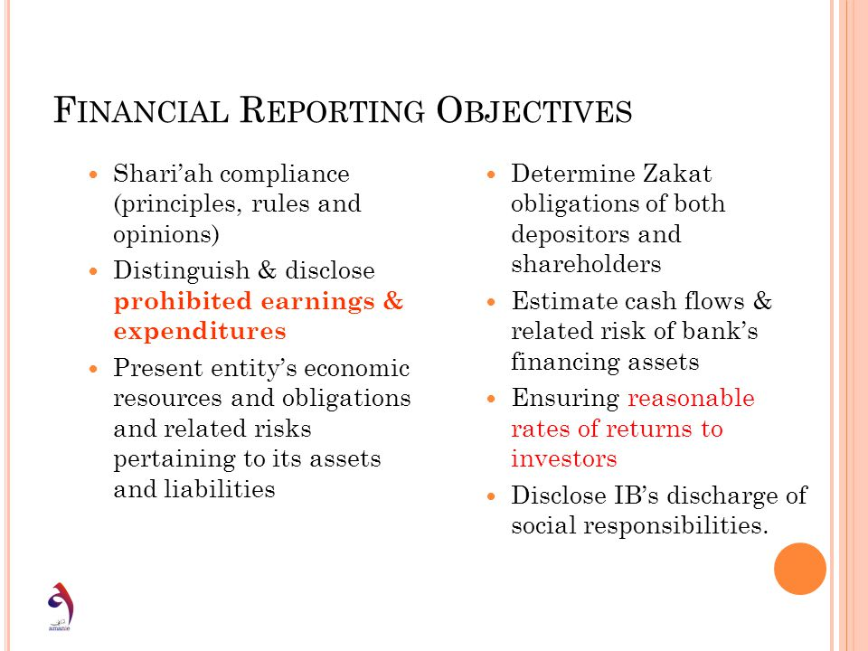 Financial Reporting Objectives