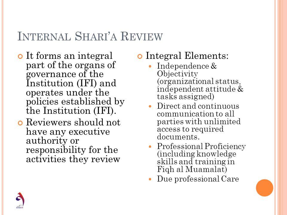 Internal Shari'a Review