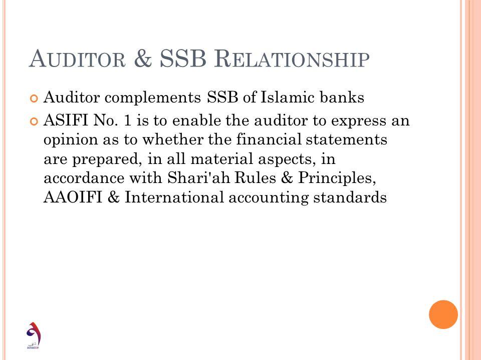 Auditor & SSB Relationship