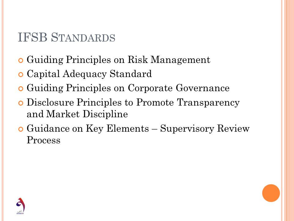 IFSB Standards Guiding Principles on Risk Management
