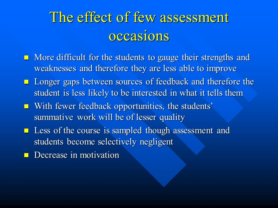 The effect of few assessment occasions