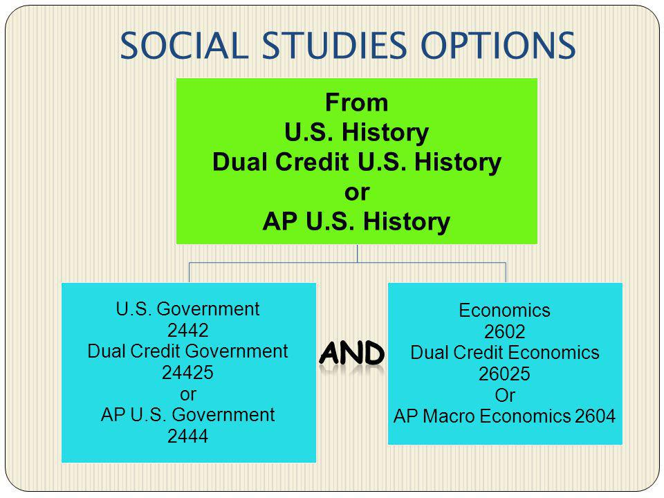 SOCIAL STUDIES OPTIONS
