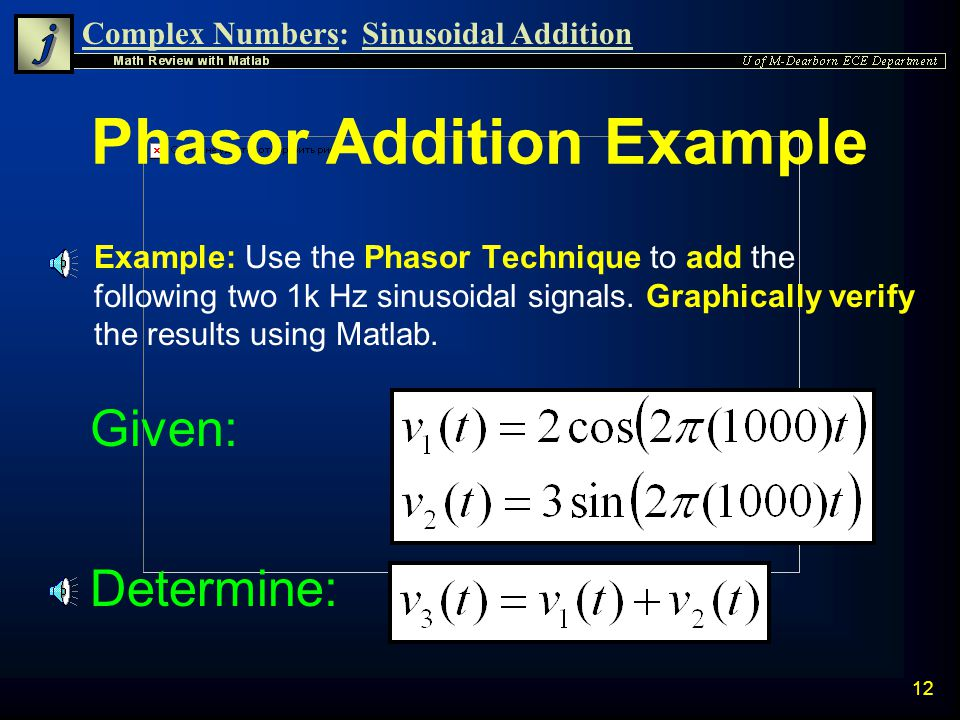 Phasor Addition Example