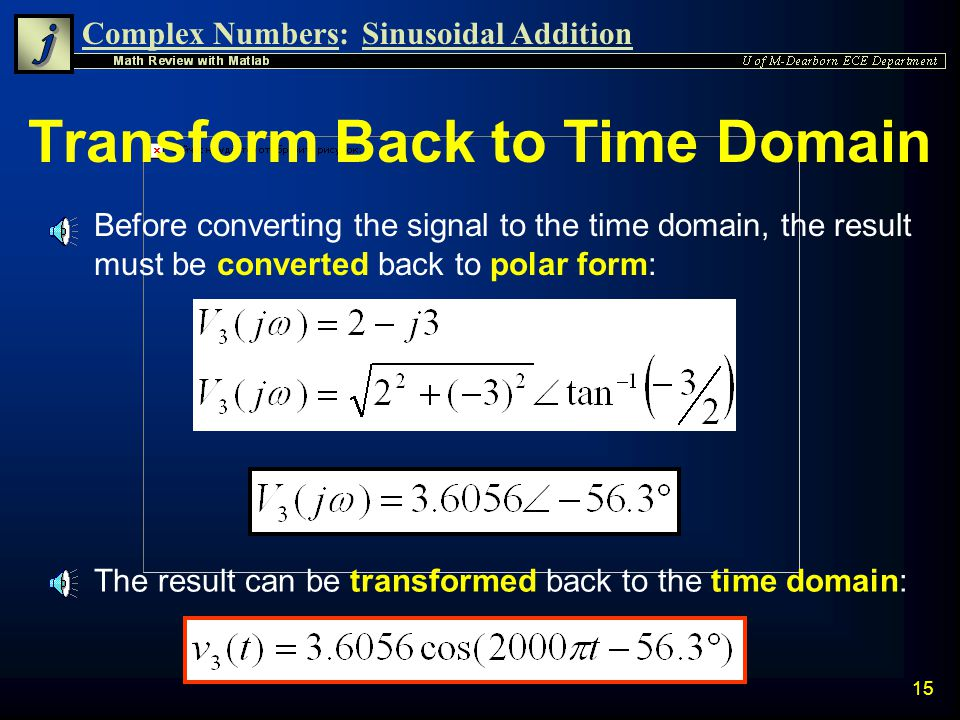 Transform Back to Time Domain