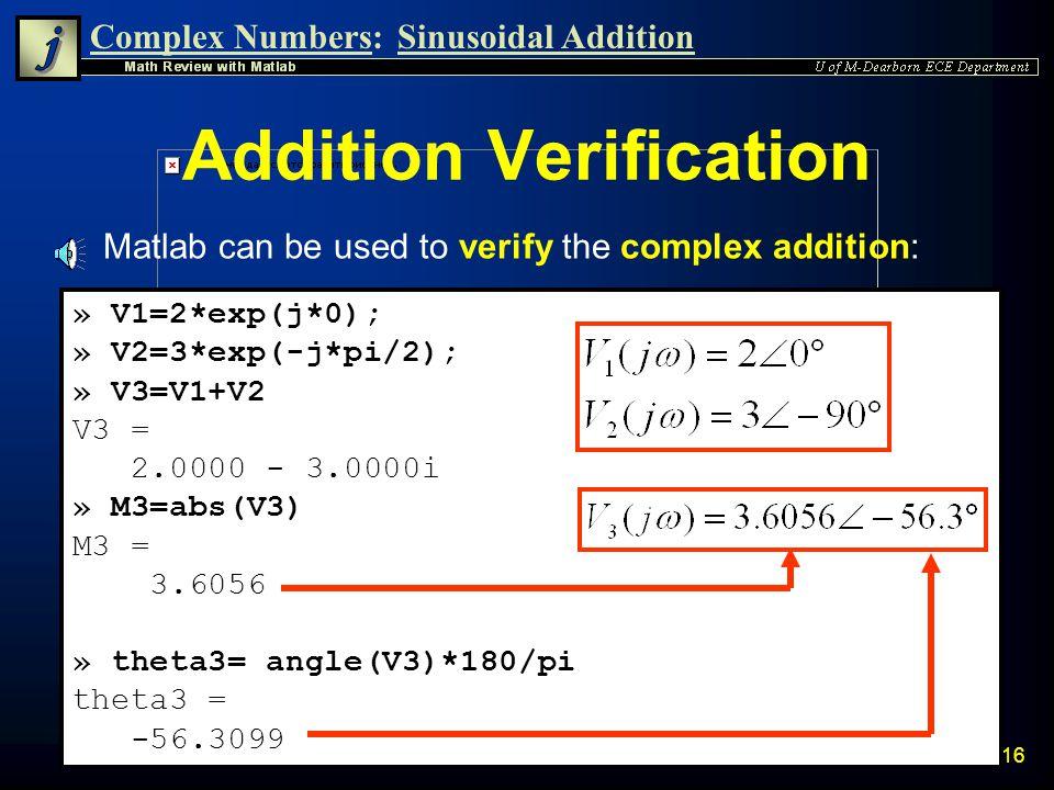 Addition Verification