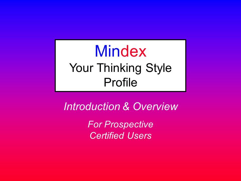 Mindex Your Thinking Style Profile
