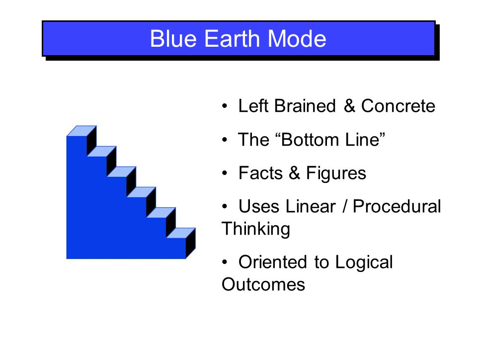 Blue Earth Mode Left Brained & Concrete The Bottom Line