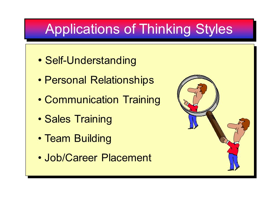 Applications of Thinking Styles