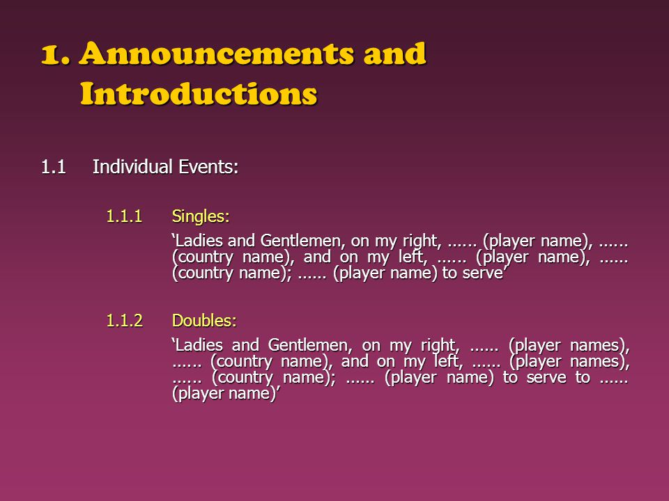 1. Announcements and Introductions