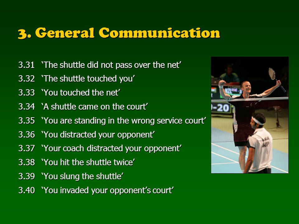 3. General Communication
