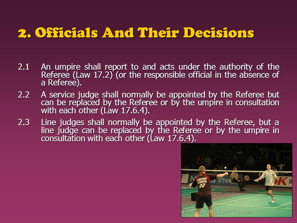 2. Officials And Their Decisions