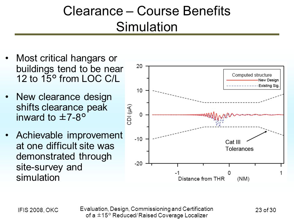 Clearance – Course Benefits Simulation