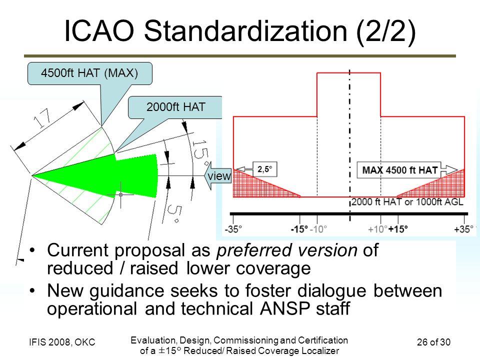 ICAO Standardization (2/2)