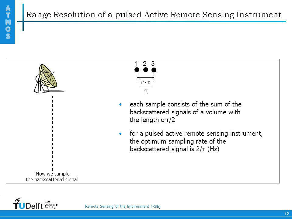 Range Resolution of a pulsed Active Remote Sensing Instrument