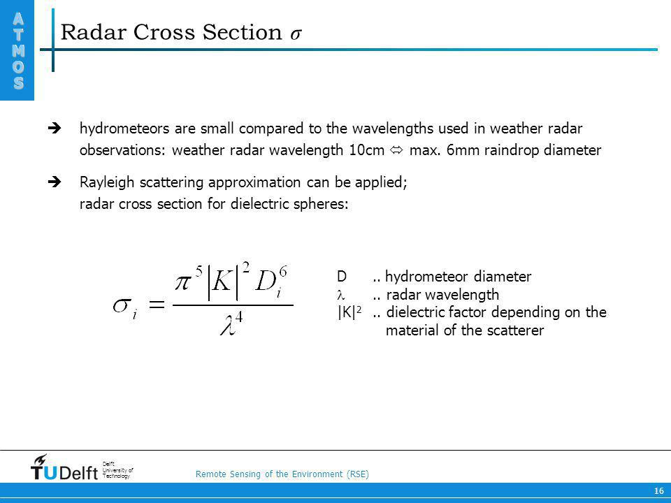 Radar Cross Section σ