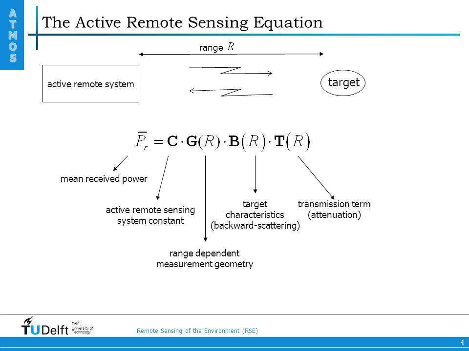 The Active Remote Sensing Equation