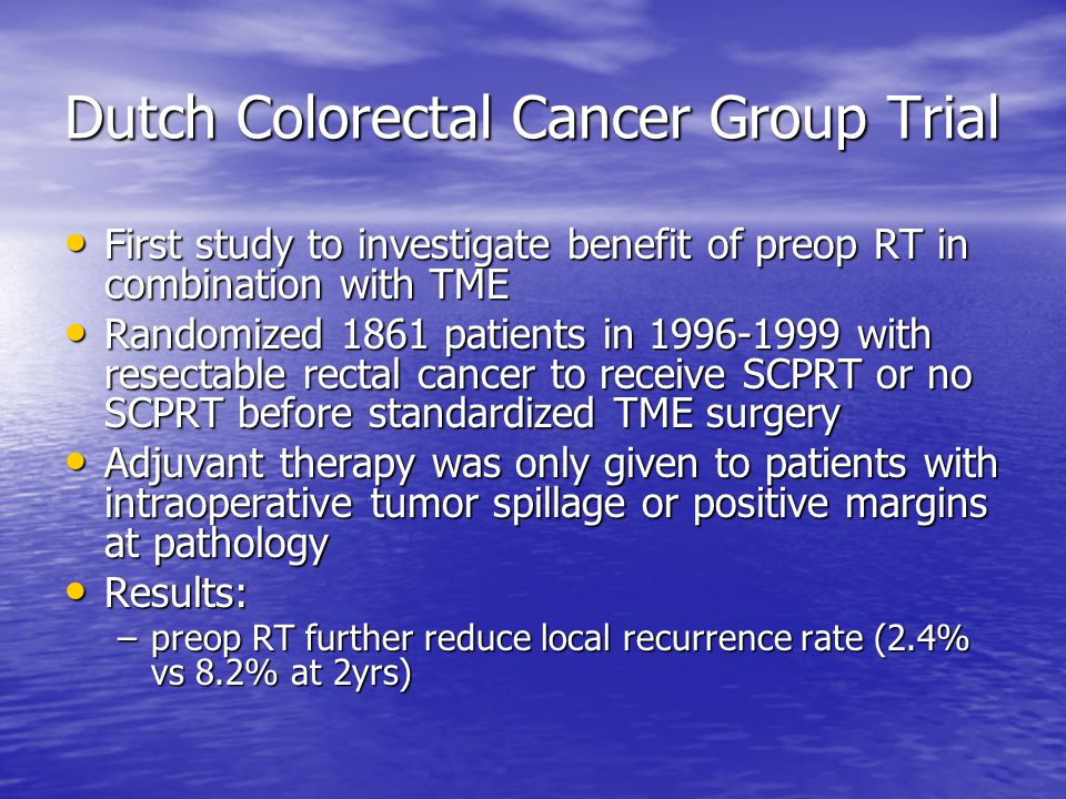 Dutch Colorectal Cancer Group Trial