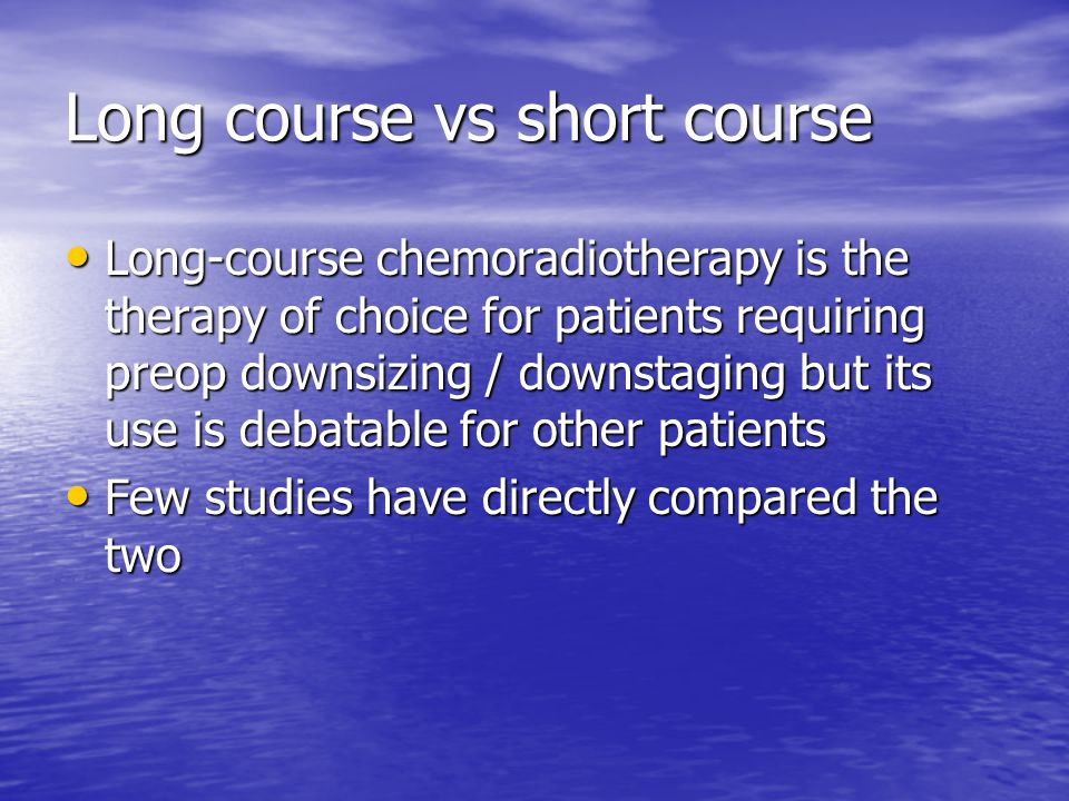 Long course vs short course